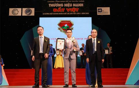 Công ty CP TM Dược phẩm Green Life Group vinh dự nhận Top 10 thương hiệu mạnh Đất Việt 2020 cho sản phẩm Tiêu Viêm Phụ Khoa Bạch Đồng Nữ